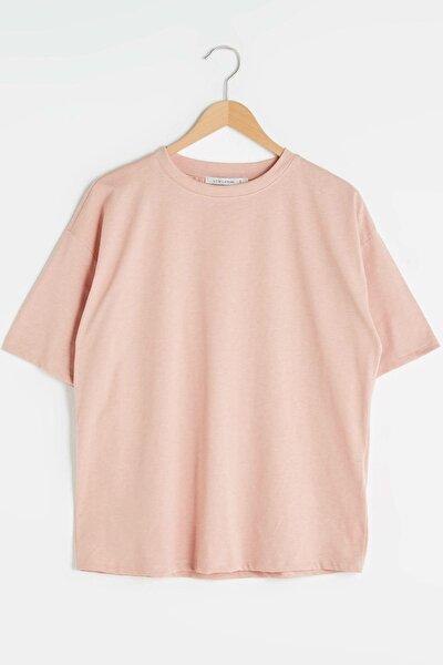 Kadın Uçuk Mercan LCW Casual Tişört
