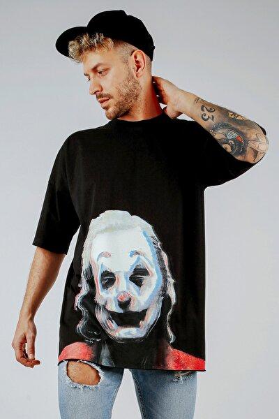 Siyah Baskılı Oversize T-shirt 1kxe1-44808-02