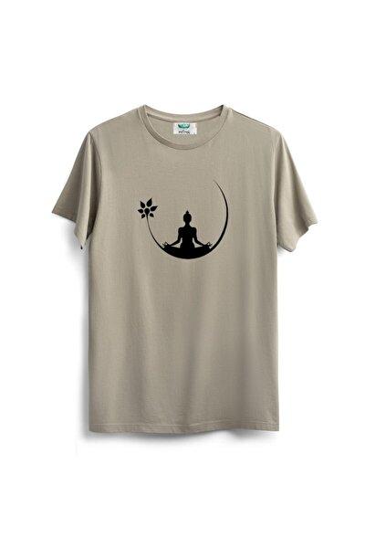 Unisex Bej T-shirt