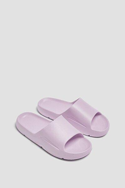 Kadın Mor Tek Renk Düz Sandalet