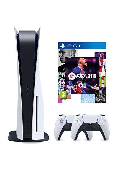Playstation 5 825 GB + 2. PS5 DualSense + PS5 Fifa 21 (Eurasia Garantili)