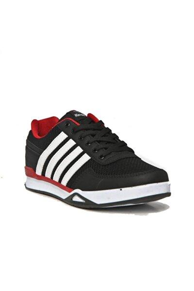 Erkek Siyah Beyaz Çizgili Yazlık Spor Ayakkabısı Mg017014