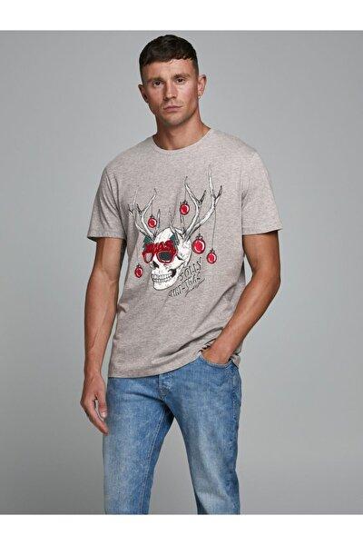 Erkek Jorskulljoy Tee Ss Crew Neck Xmas T-shirt 12180478