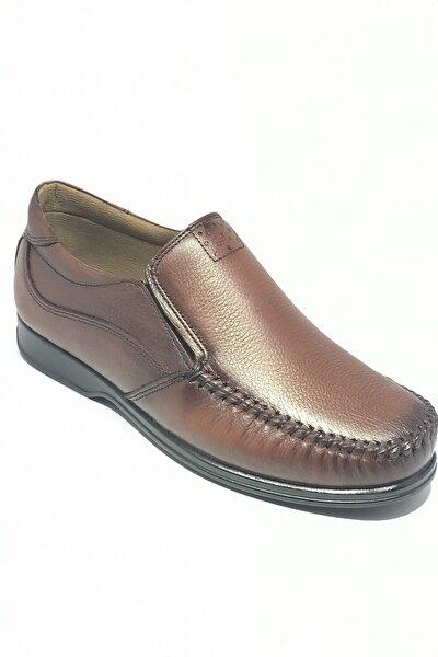 Baba Ayakkabısı Bağsız Saim Hakiki Deri Yazlık Ortopedik Taban