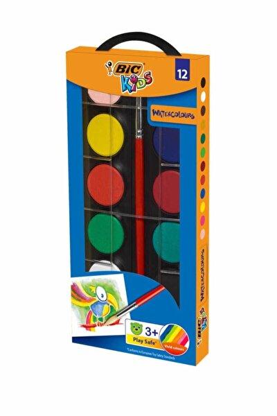 Unisex Çocuk 12 Renk Sulu Boya