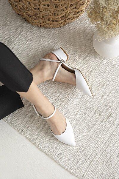 Sky Bayan Topuklu Ayakkabı Beyaz
