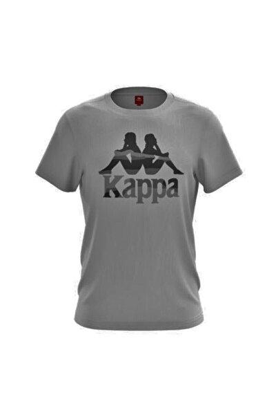 303r470 Erkek Baskılı T-shirt Zelkal - Gri Melanj - Xl