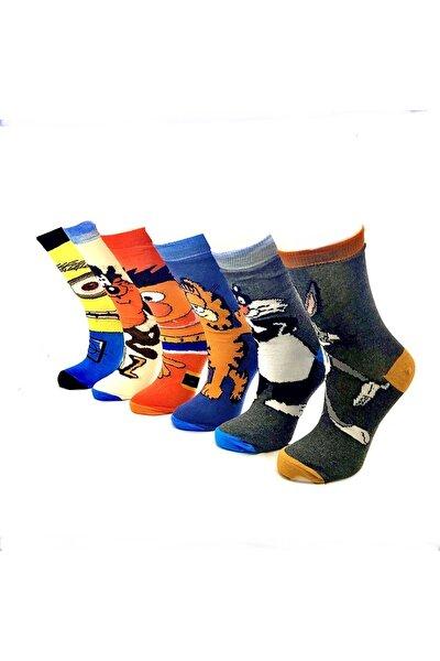 6'lı Çizgi Film Karakterli Çorap