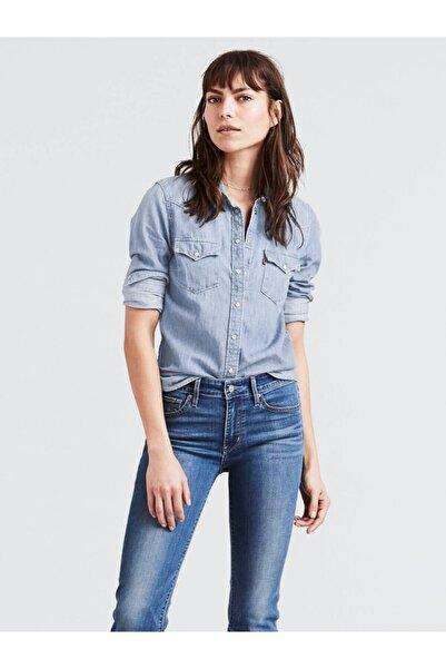Kadın Mavi Ultimate Western Jean Gömlek 86832-0000