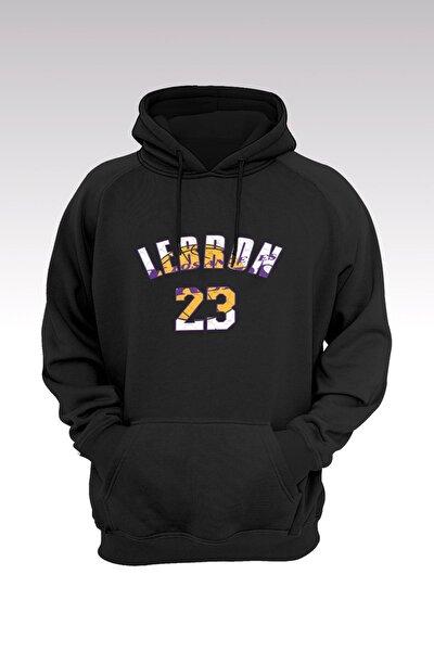 Lebron James 118 Siyah Kapşonlu Sweatshirt - Hoodie