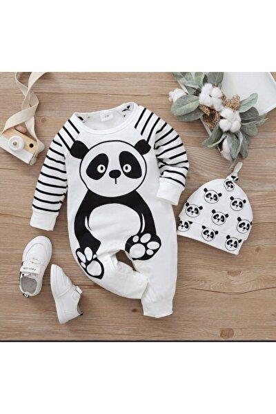 Bebek Tulum Uzun Kol Sevimli Panda 0 3 6 9 12ay