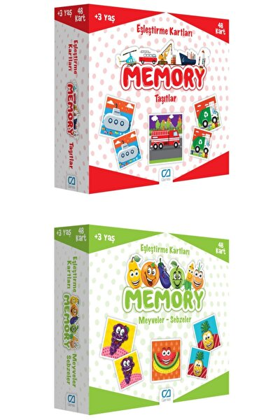 2'li Eşleştirme Kartları Memory Set (5038-5040)