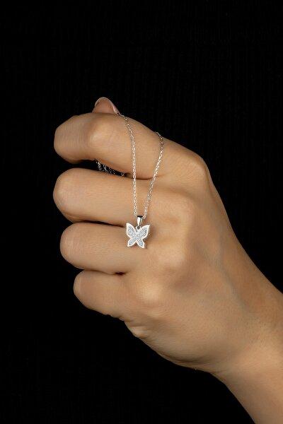 925 Ayar Gümüş Kelebek Tiny Kolye