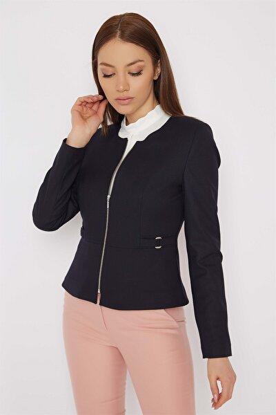 Önü Fermuarlı Ceket