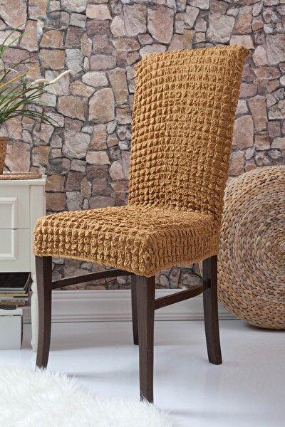 Hardal Sarısı Bürümcük Sandalye Örtüsü Sandalye Kilifi