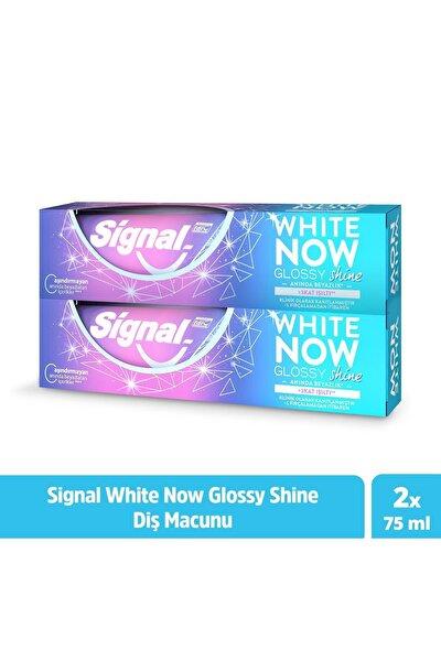White Now Glossy Shine Anında Beyazlık Diş Macunu 75 ml X2