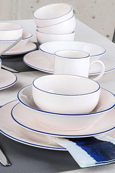 Blue Line Krem Yemek Takımı 30 Parça 6 Kişilik