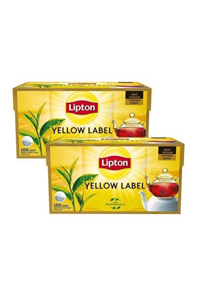 Yellow Label Demlik Poşet Çay 100'lü X 2 Adet