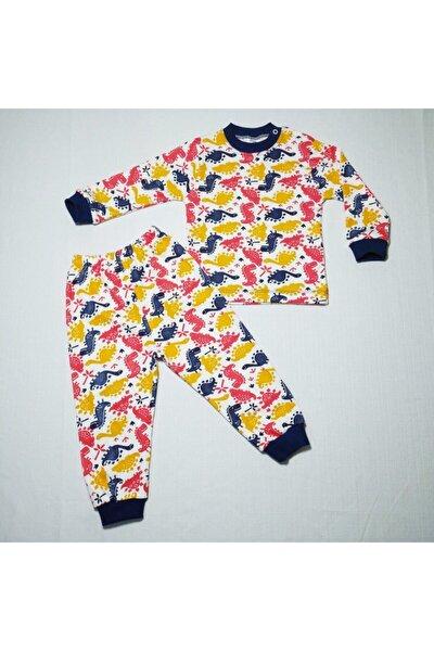 Erkek Bebek  Desenli Penye Pijama Takımı