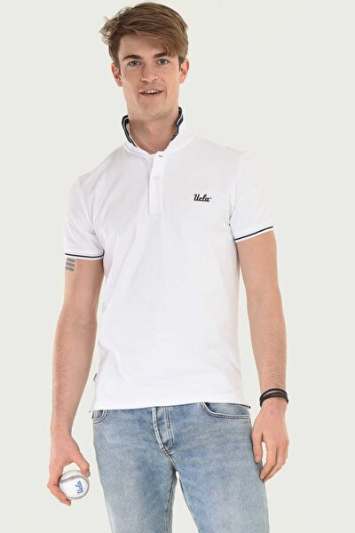 Erkek Beyaz Hammer Polo Yaka T-shirt