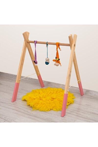 Ahşap Bebek Oyun Halısı Oyuncağı Ahşap Montessori Oyun Halısı