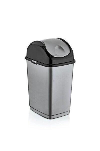 18 Lt Slim Dustbin Çöp Kovası (Metalik Siyah)