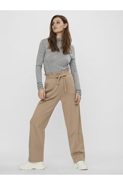 Kadın Ekru Yüksek Bel Sweat Pantolon