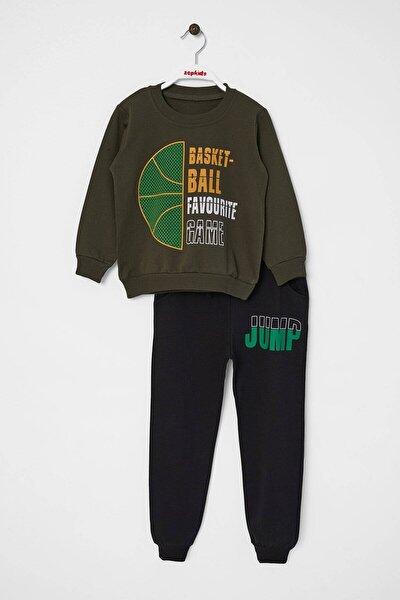 Erkek Çocuk Eşofman Takımı Basket Baskılı 5-8 Yaş