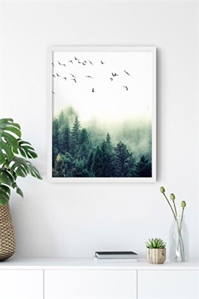 Nordic Forest Çerçevesiz 40x50 Cm Poster Tablo No:3