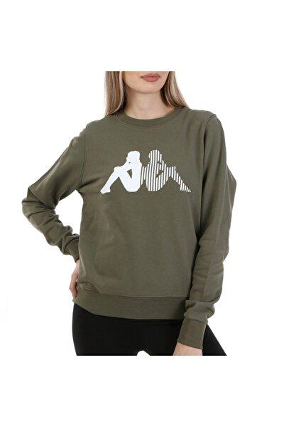 Kadın Haki Spor Sweatshirt