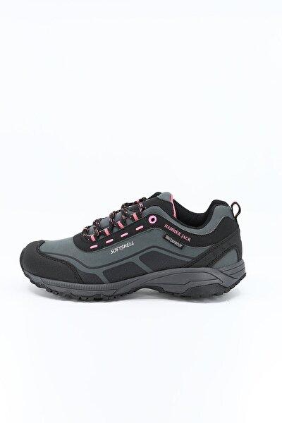 Kadın Gri Pembe Su Geçirmez Outdoor Ayakkabı Berto M 20w04bertog