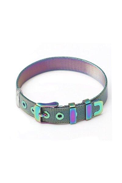 Unisex Multicolor Örgü Hasır Çelik Bileklik Dr47ml