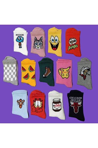 Unisex Kolej Çorap Yeni Trend 10 'lu