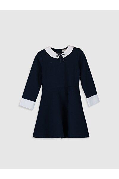 Kız Çocuk Koyu Lacivert Hrc Elbise