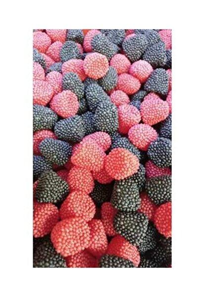 Karadut&böğürtlen Granüllü Meyve Aromalı Yumuşak Şeker 1 Kg