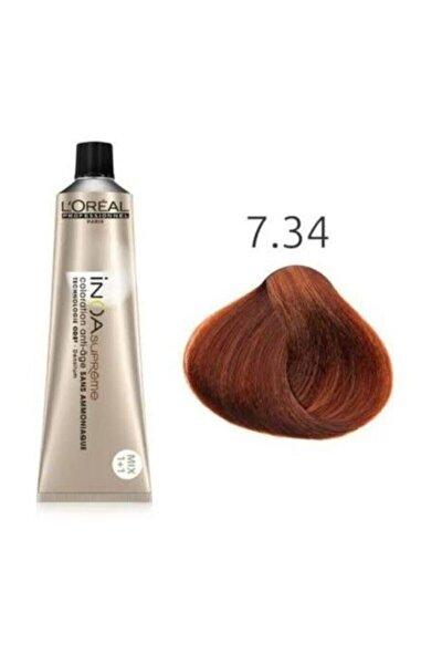 Supreme 7.34 Kumral Dore Bakır Amonyaksız Saç Boyası 60ml