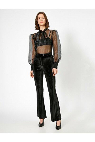 Kadın Skirtly Yours Styled By Melis Agazat - Dügme Detayli Pantolon