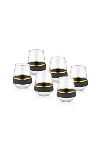 Glow Su Bardağı 6'lıı Set - Siyah & Gold