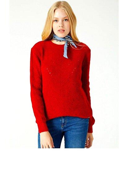 Kadın Kırmızı Kazak Lf2025005