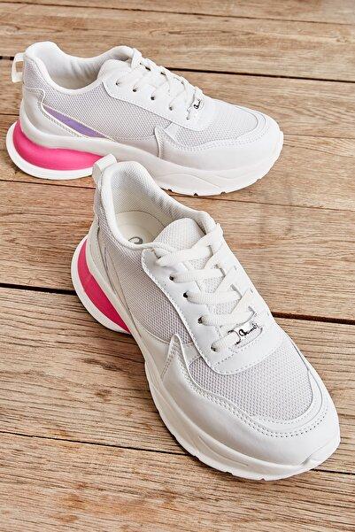 Beyaz Kadın Sneaker L08061000