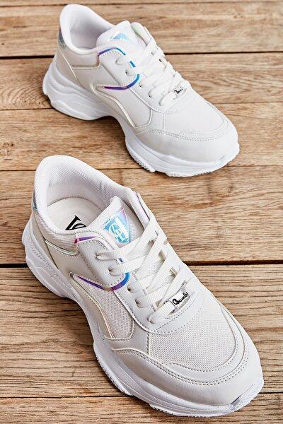 Beyaz Kadın Sneaker L0613683022