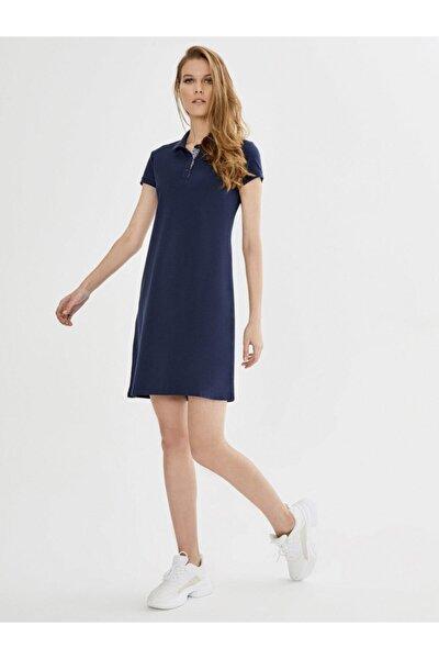 Xınt Polo Yaka Pamuklu Basic Elbise