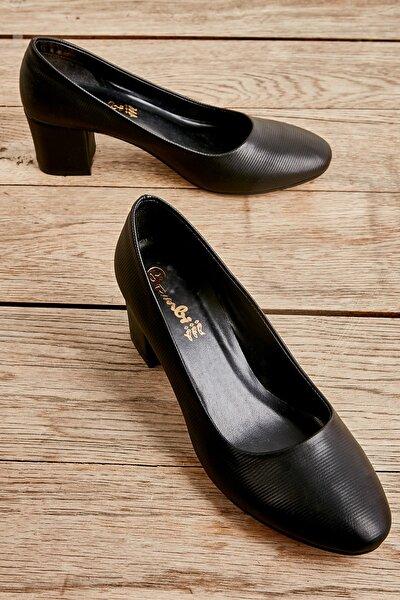 Siyah Çizgili Kadın Ayakkabı L0501811509
