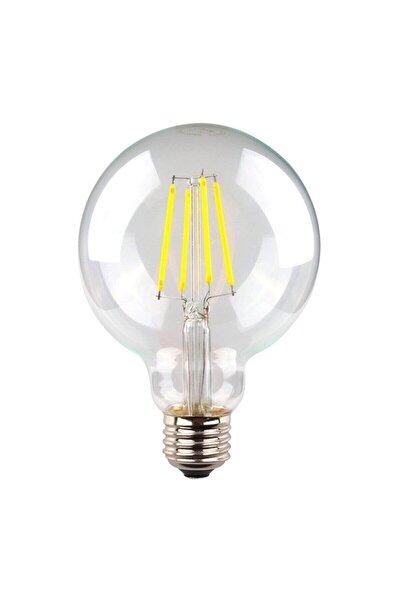G95 Filament Edison Tip Rustik Ampul 6 Watt Led Ampul - Beyaz Işık