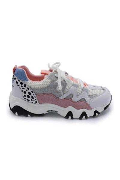 K201-2030 Pembe Kadın Kalın Taban Spor Ayakkabı