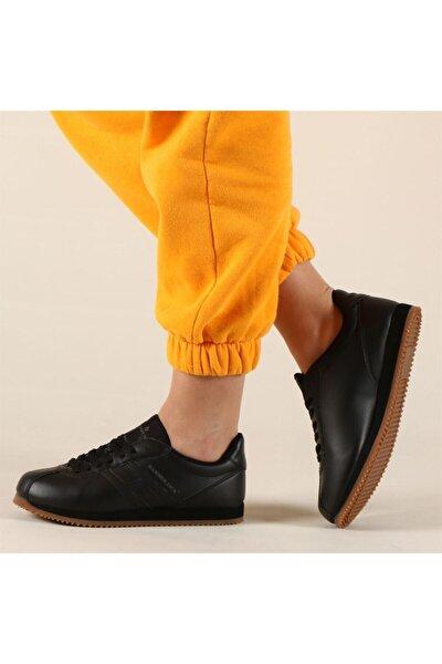 Siyah-krep Kadın Ayakkabı 102 20001-g