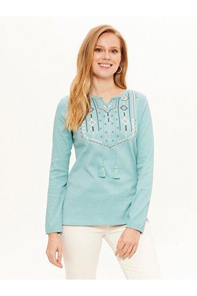 Kadın Mat Mavi  Tişört
