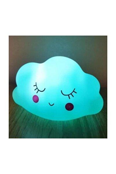 Dekoratif 3d Bulut Tasarımlı Led Işıklı Gece Lambası Mavi