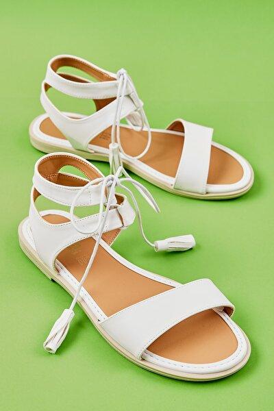 Beyaz Kadın Sandalet L0652071009