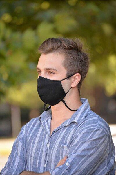 Çift Katlı Boyun Askılı Erkek Yıkanabilir Bez Maske